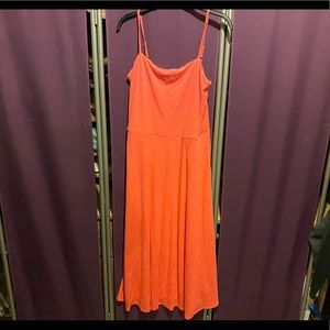 Gap midi length coral dress